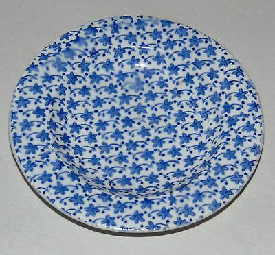 RARE ANTIQUE Cup Plate CLEWS Staffordshire FLOWERHEAD Blue & White
