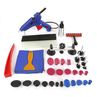 Car Paintless Hail Repair PDR Dent Lifter Glue Puller Ding Removal Tools Kit:40