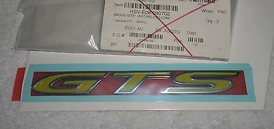 Ve Vf Holden Hsv Side Or Rear Bootlid 'yellow Gts' Badge Genuine