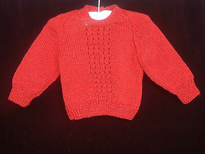 Granny Aggies KNIT JUMPER - RED Size 00 by HBW