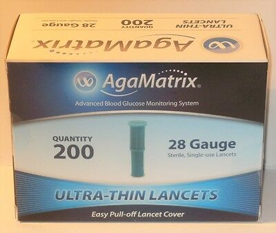 Agamatrix 28 Gauge Ultra-thin Lancets (200)