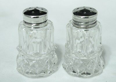 Antique Salt & Pepper Shakers - Sterling Silver Tops and Glass Bodies