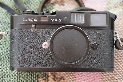 Leica m4-2 rangefinder serviced & 100% working Camera black 35mm leitz m 4 film