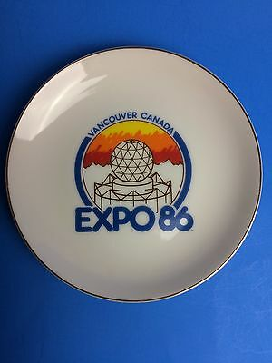 EXPO 86 Vancouver World's Fair plate