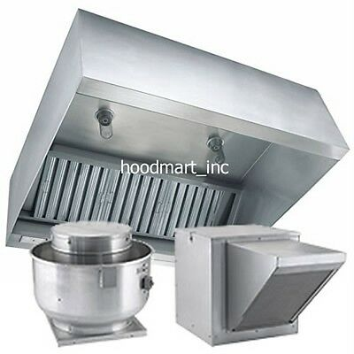 Makeup Air MUA 10' 10 ft  x 48 Exhaust Hood System  Stainless Steel Commercial