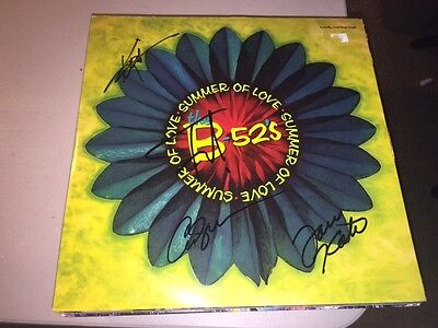 The B-52's GROUP Signed SUMMER OF LOVE Album LP FRED SCHNEIDER ++