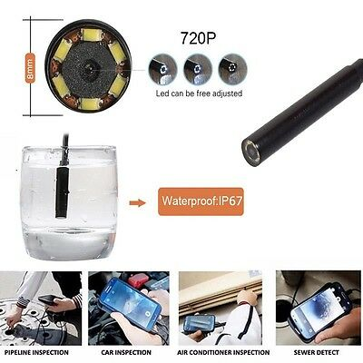 8mm 6LED Waterproof WiFI Borescope Inspection Endoscope Camera For iPhone iphone