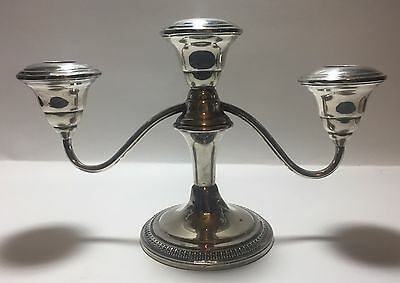 WM Rogers MFG Company Sterling Silver Candlestick - 3 Candle - Candelabra - 5A-4