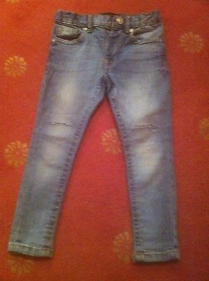 Boys Slim Blue Jeans For Ages 3 By River Island - Ripped On The Knees