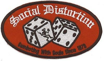 Social Distortion Gambling With Souls Since 1979 Patch Iron On Or Sew On