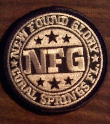 NEW FOUND GLORY iron-on PATCH Coral Springs Fl punk embroidered band logo 2001