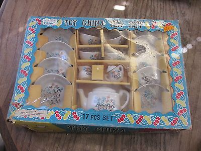 Straco 17 piece Toy China Tea Set Vintage in box Japan