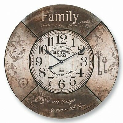 NEW 60CM Large Round MDF Wall Clock Family Home Décor Mother's Day Gift