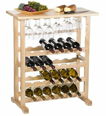 Buffet Table With Wine Rack Storage Free Standing Floor Bottle Glass Holder New  sc 1 st  PicClick & BUFFET TABLE WITH Wine Rack Storage Free Standing Floor Bottle Glass ...