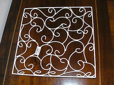 French Provincial Creamy White Metal Square Tray