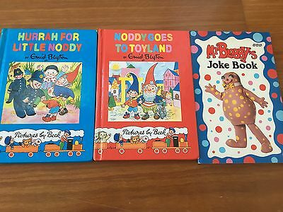ENID BLYTON Book Series HURRAH FOR LITTLE NODDY Goes To Toyland MR BLOBBY'S Joke