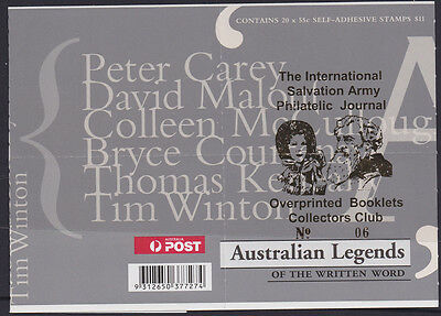 Australia 2010 muh WRITERS booklet overprint SALVATION ARMY (sx-)