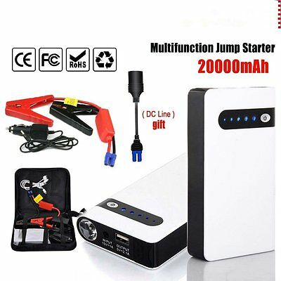 20000mAh Portable Car Jump Starter Power Bank Vehicle Battery Charger NEW EE