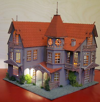 Laser cut ply wood wooden dolls house Fantasy Mansion Kit