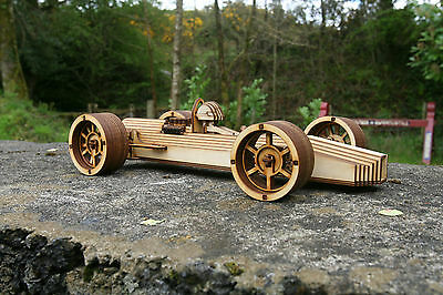 Laser cut ply wood wooden Lotus Race Sports Car