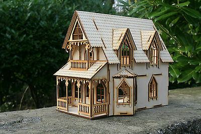 Laser cut ply wood wooden Anna Claypoole House Kit
