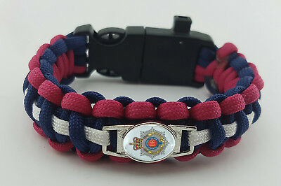 Royal Corps of Transport Badged Survival Bracelet Tactical Edge Gift