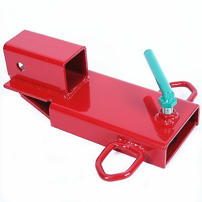 Clamp On Forklift Hitch Receiver Pallet Fork Trailer Towing Adapter 2'' Insert