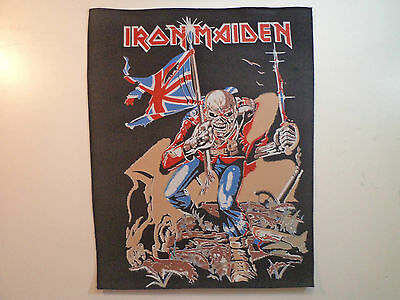 Vintage IRON MAIDEN  80s Unused BACK PATCH motorhead ozzy dio wasp venom t shirt