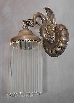 Wall Lamp Sconce Art Deco Vintage Light Glass Vintage Shade Brass Noveau Retro