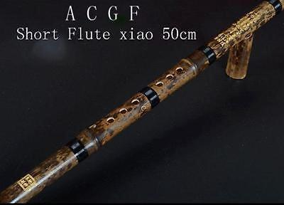 Beginner Chinese Instrument Professional Bamboo 1 Section Short Flute Xiao C A G