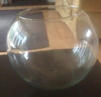 Large Glass Bowl Decorative or Fish Bowl