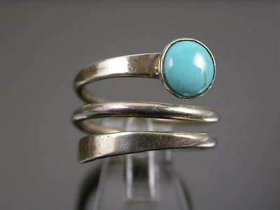Vintage Mexican Silver & Turquoise Ring C.1980