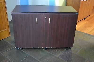 Horn Extendable Sewmate Sewing Cabinet Dark Brown Finish VGC