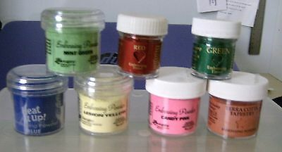 7 ass Tubs Embossing Powders
