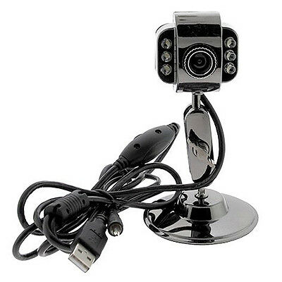 Adjustable LED USB 2.0 HD Video Camera Webcam Web Cam Mic for Skype PC Laptop UK