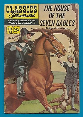 Classics Illustrated Comic Book 1970 The House of the 7 Gables # 52.  #711