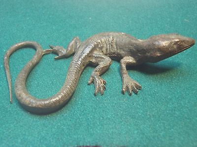 Antique   19th / early 20th   Century small    bronze    lizard - lovely  patina