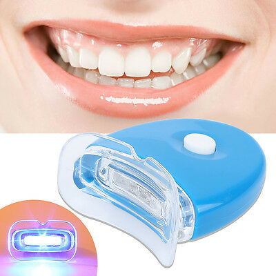 Teeth Tooth Whitening Whitener Dental Bleaching LED White Light Oral Gel Kit