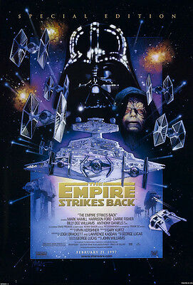 Vintage Star Wars Movie Posters: Empire Strikes Back - Special Edition