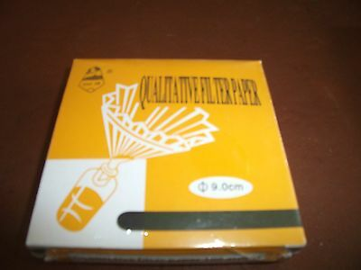 New Lab Filter Paper Qualitative Box of 100 For Laboratory  Chemistry 15.0CM