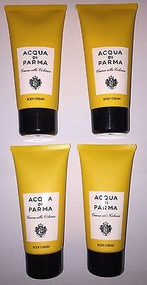 ACQUA DI PARMA COLONIA BODY CREAM ONLY - 4 PIECE GIFT SET - LARGE 75ml TUBES