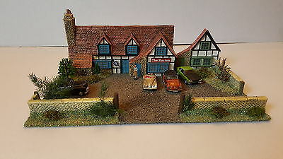 00 Scale Background Model Of Village Pub 'the Buxton ' Handcrafted