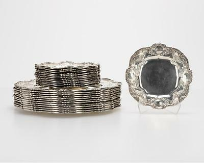 24 Gorham sterling silver dinner and bread plates Lot 1099
