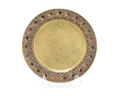 A Louis C. Tiffany Favrile gilt-bronze plate Lot 1049