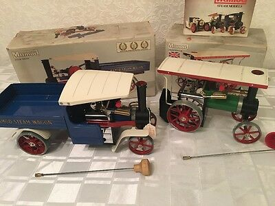 Mamod Steam Wagon and Steam Tractor