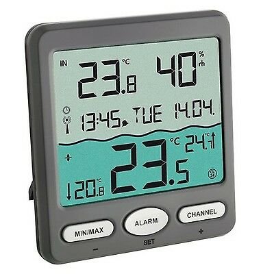 TFA Dostmann Pool Thermometer VENICE 30305610 for Monitoring of Temperature o...