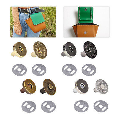 10pc 18mm Magnetic Snaps Closures Button Clasp Bag Purse Craft Press Studs Round