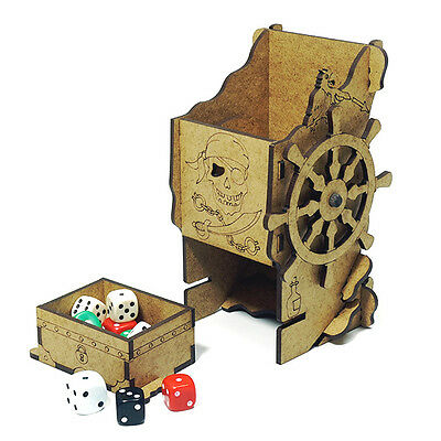 Pirate Mechanical DICE TOWER for PATHFINDER Skull&Shackles, RPGs and board games