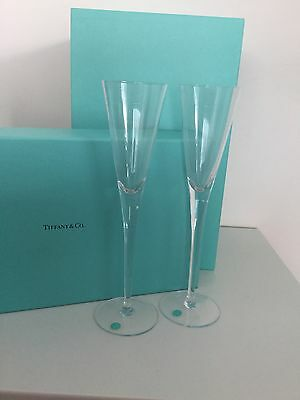 Tiffany & Co Champagne Flutes Lead Crystal Champagne Flutes Set Of 2