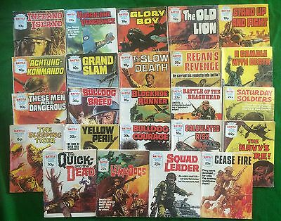 24 Battle Picture Library Comics Random Lot War Commando